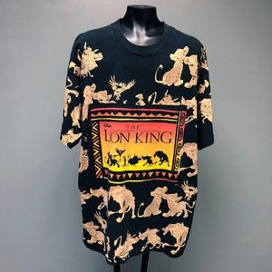 VTG 90s RARE Disney The Lion King All Over Print